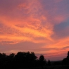 4. Juni 2007,Sonnenuntergang, Blick vom Klämmle aus