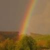 21. April 2012, Regenbogen vor der Schneeburgruine