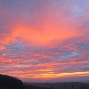 10. Februar 2011, Sonnenuntergang, Blick vom Kienberg